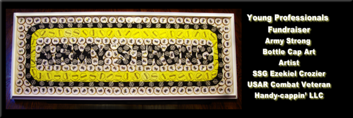 Army Strong Bottle Cap Art